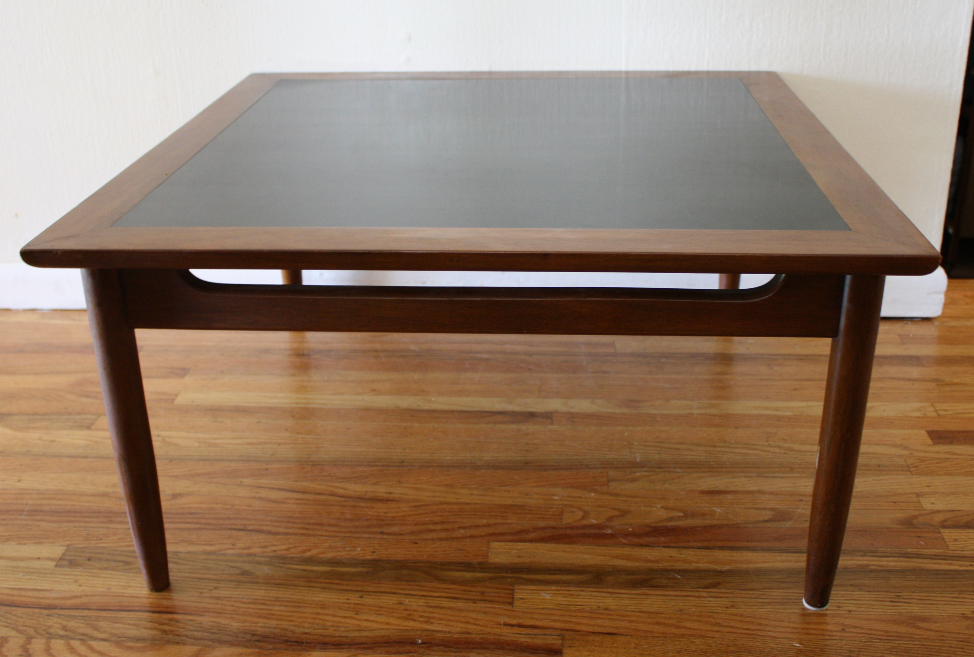 Mcm black formica table 1 picked vintage Formica coffee table