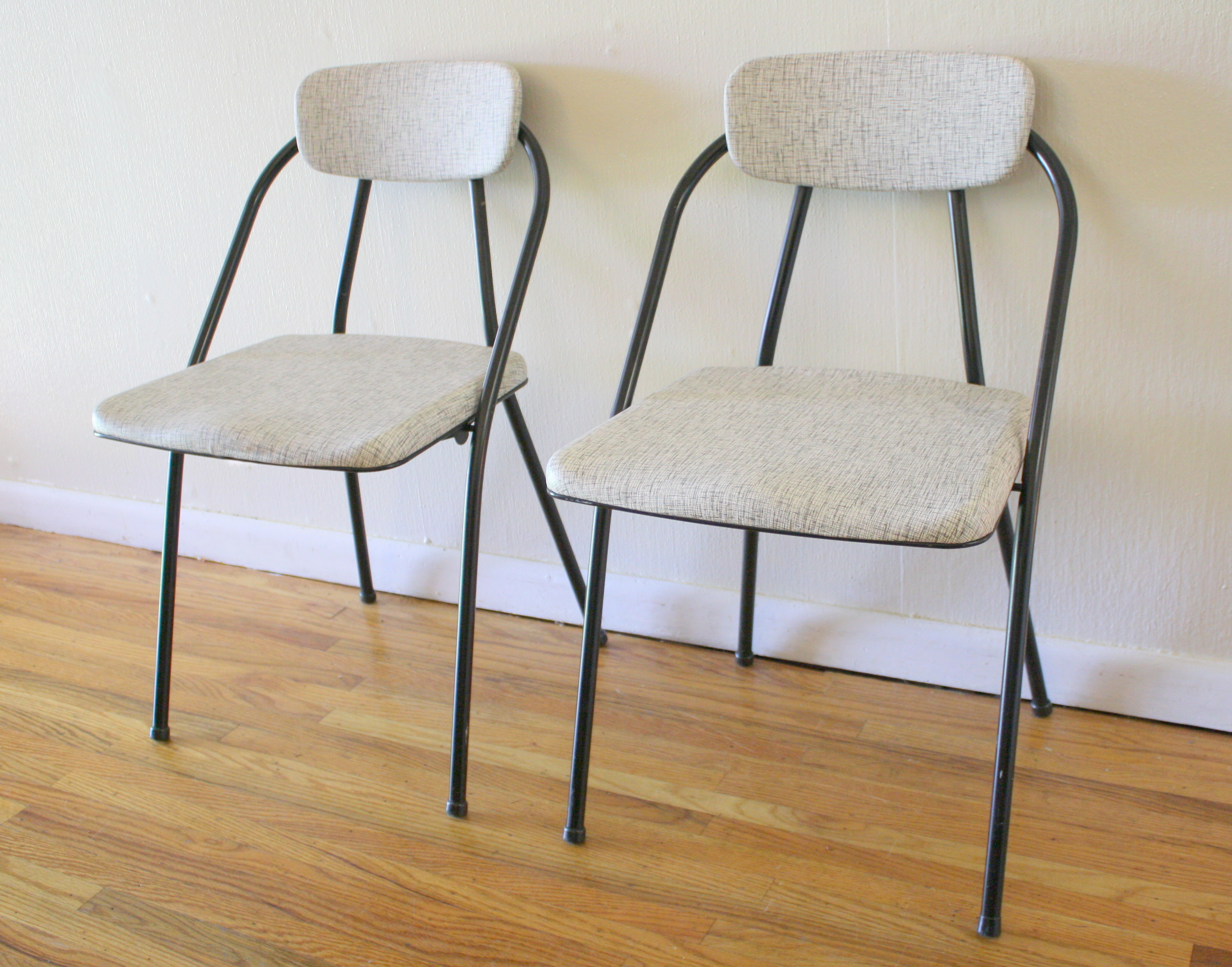 Mid Century Modern Vintage Folding Chair Pairs