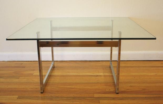 mcm square chrome coffee table 2