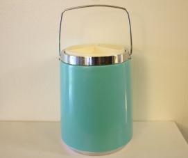 Retro turquoise ice bucket