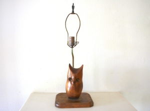 vintage owl lamp 1