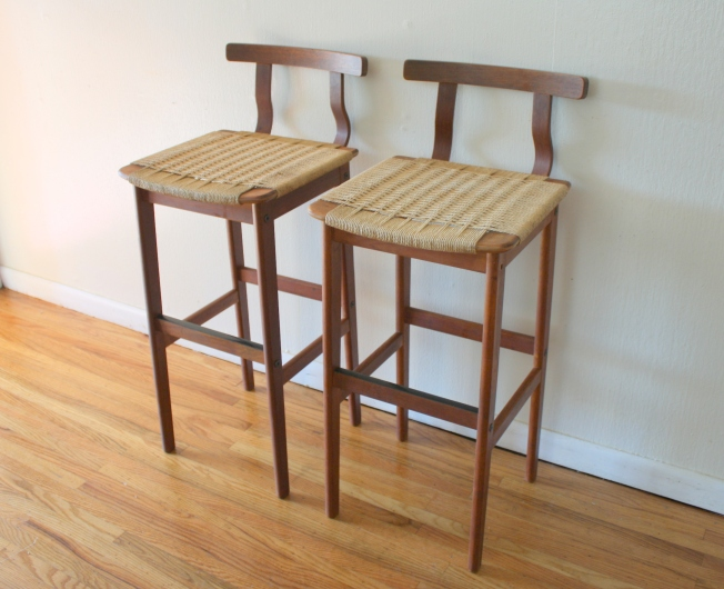 danish rope stool pair 1