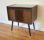 Mid century modern record player by Delmonico