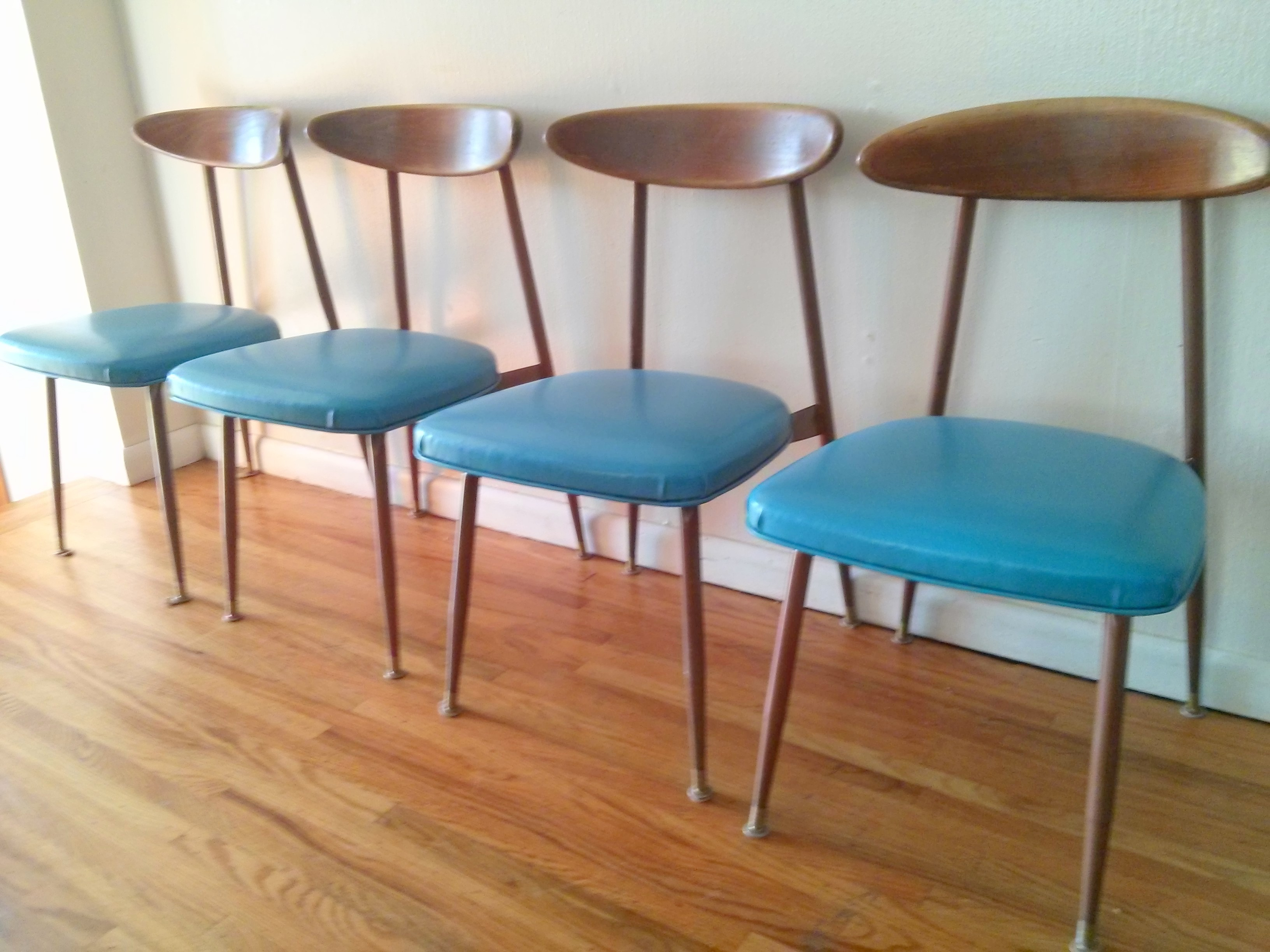 mid century wooden dining chairs. viko chairs set of 4 mid century wooden dining