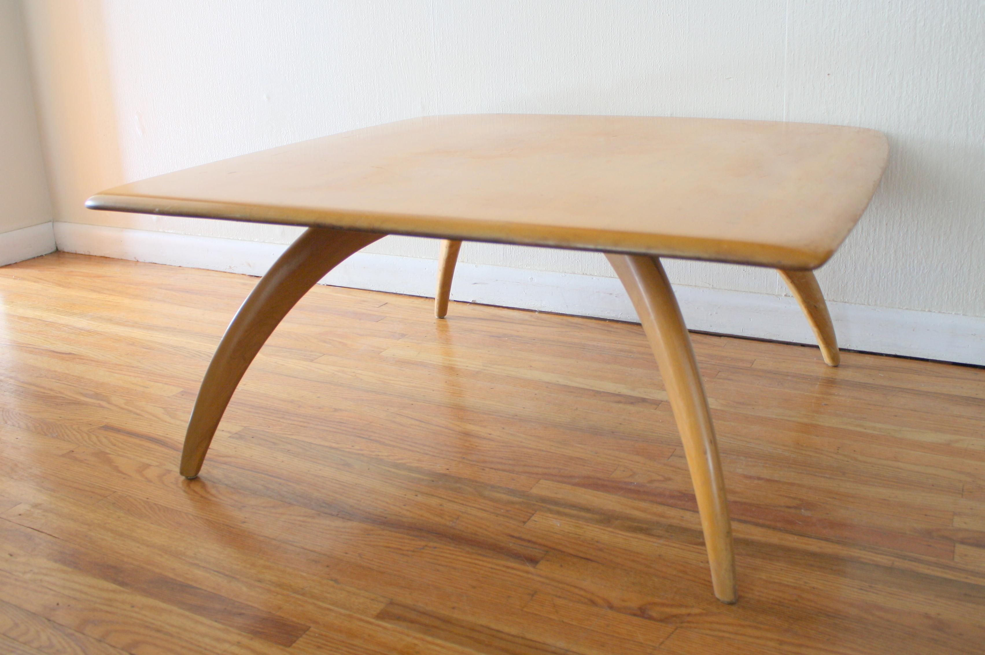 heywood wakefield square coffee table 1