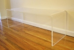 Lucite coffee table - $275