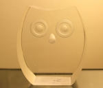 Lucite owl sculpture paper weight - *SOLD*