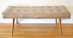 mcm bench with splayed legs 1
