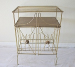 Mid century modern mini brass record rack - *SOLD*