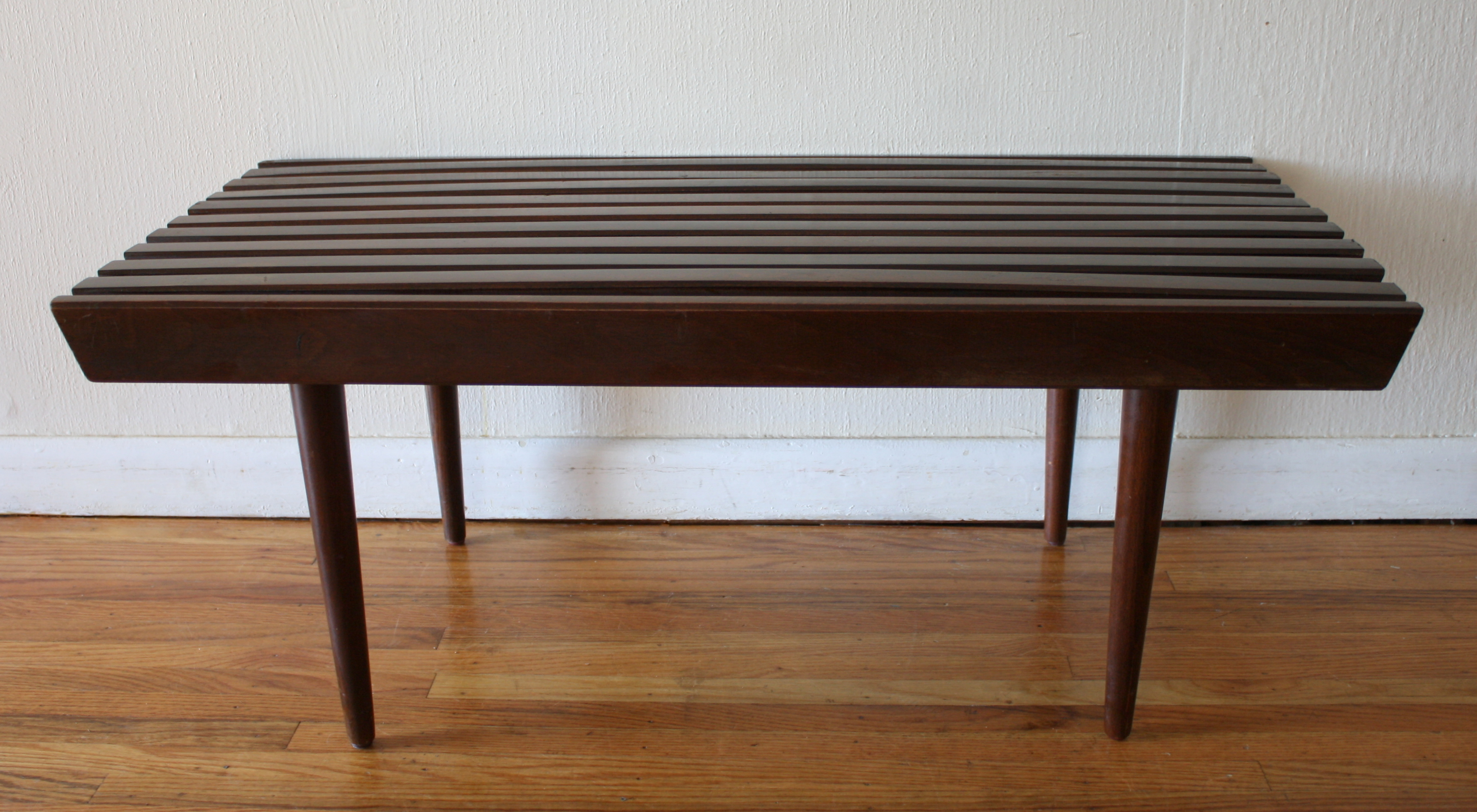 Mid Century Modern Slatted Bench Coffee Tables Picked Vintage