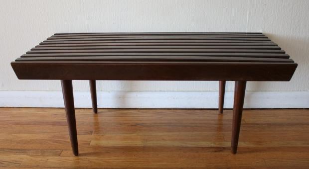 mcm dark slatted coffee table bench 2