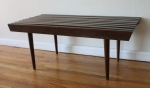 Mid century modern slatted coffee table bench (small): $155