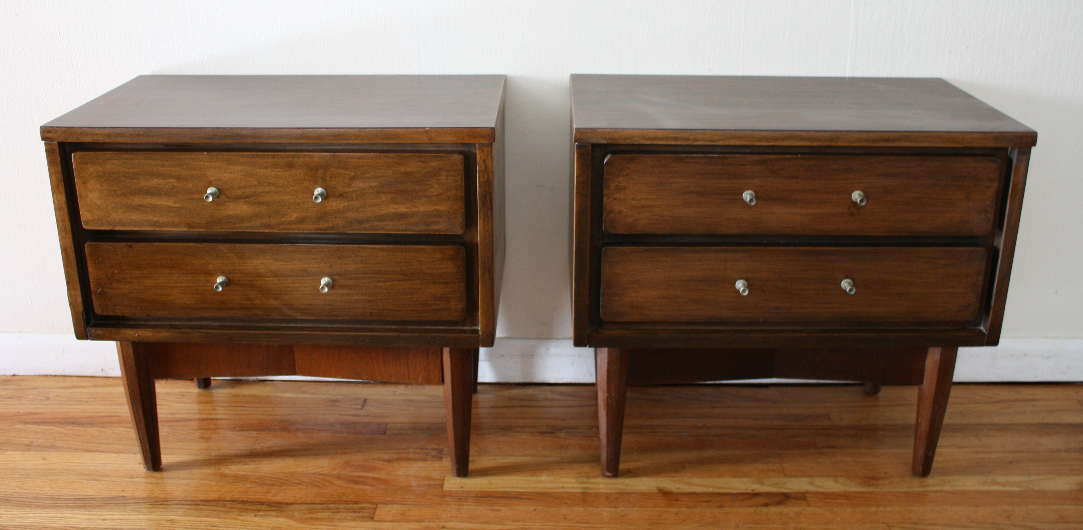 Mid Century Modern Pairs Of Side End Tables Picked Vintage