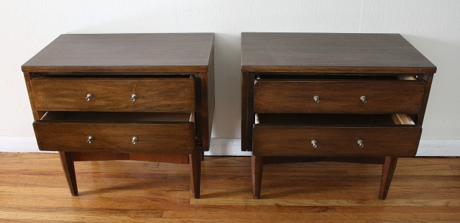 mcm Dixie end tables pair 2