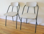Mid century modern folding chairs: $75 each