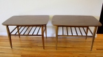 Lane slatted side tables - $325 for the pair