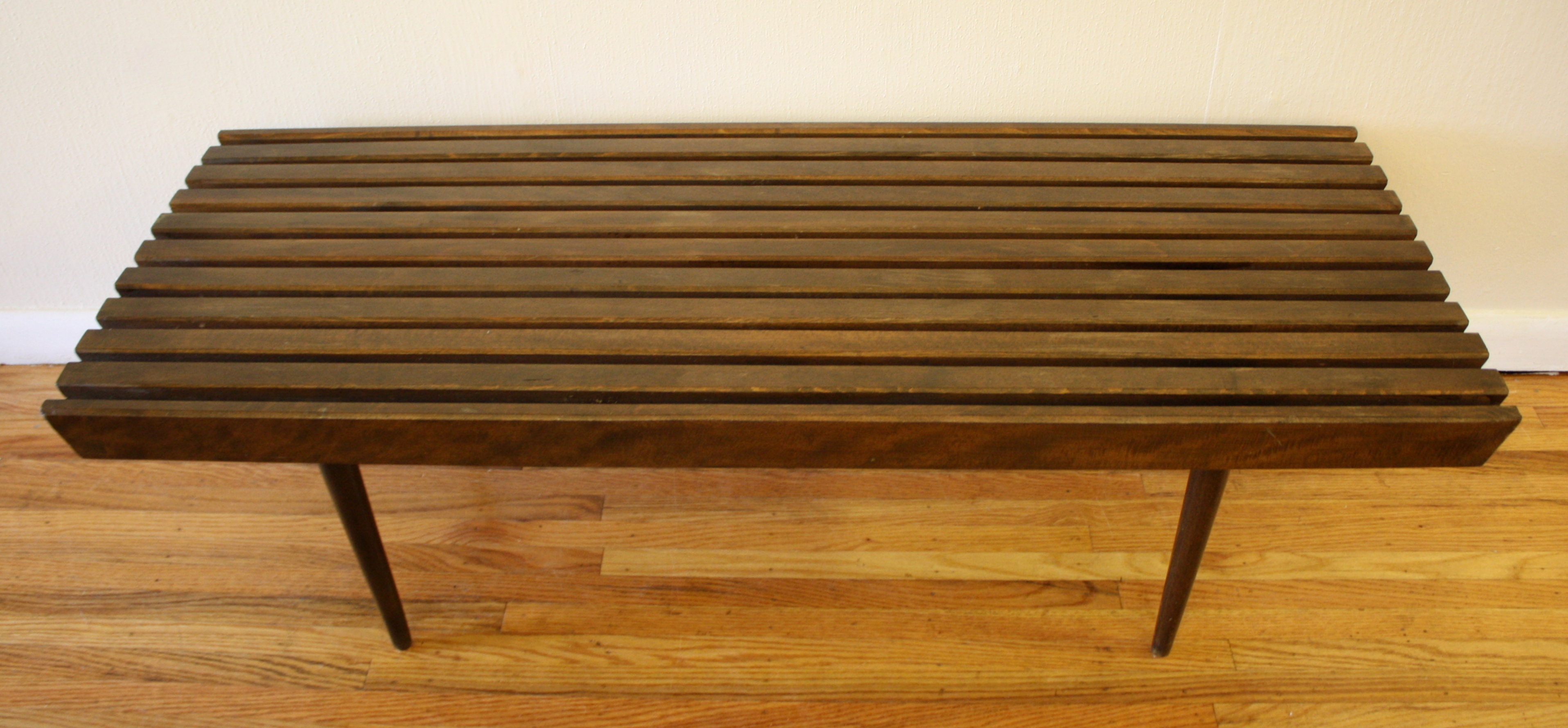 Mid Century Modern Slatted Bench Coffee Tables Picked