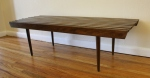 Mid century modern slatted coffee table bench (large):  *SOLD*