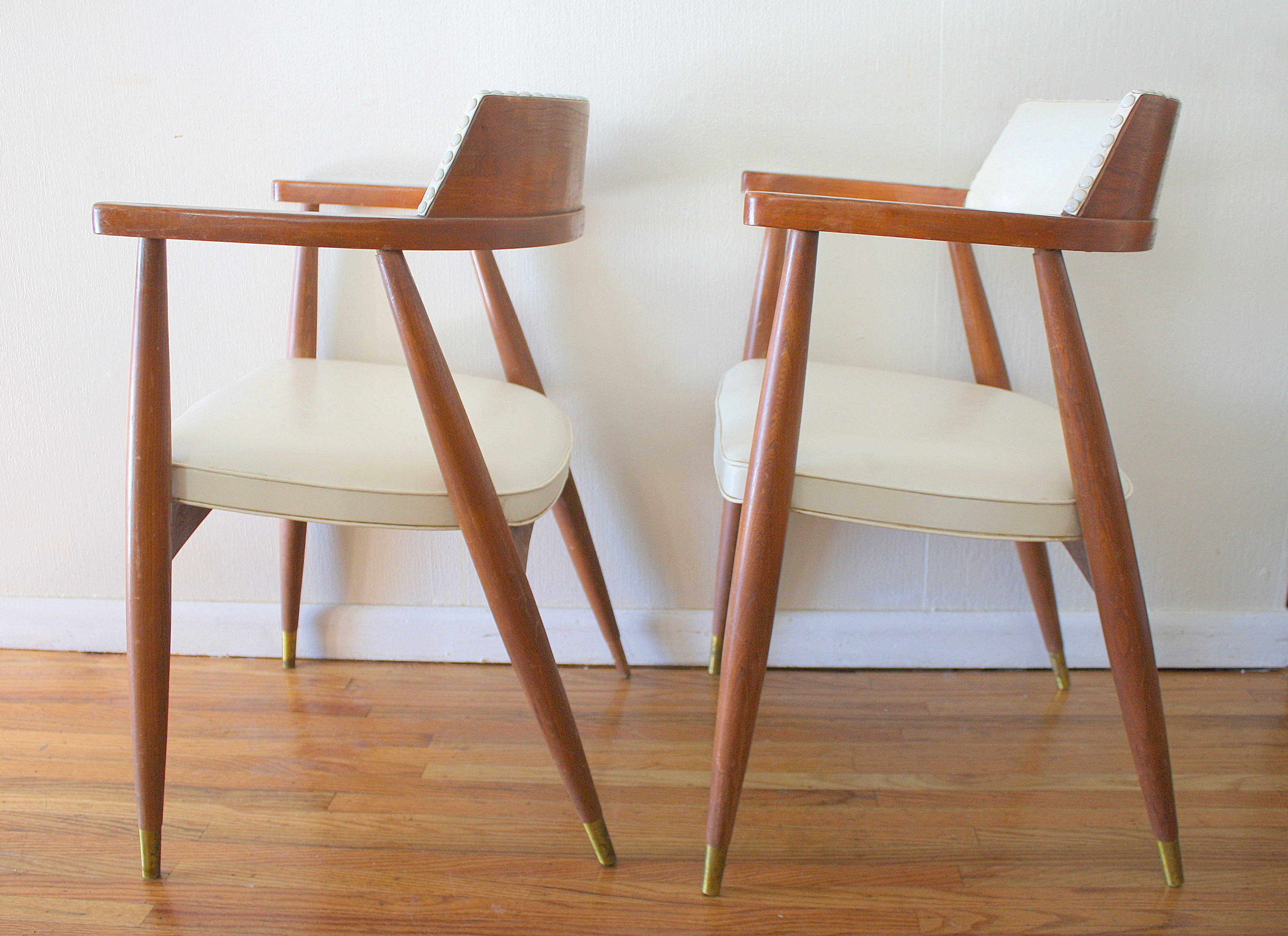 Mcm White Barrel Back Chairs 3