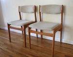 Danish teak chairs: *SOLD*