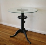 Industrial cast iron tripod table - $365