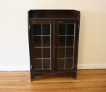 Antique cabinet with leaded glass doors - *SOLD*