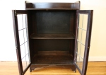 antique leaded glass cabinet 2
