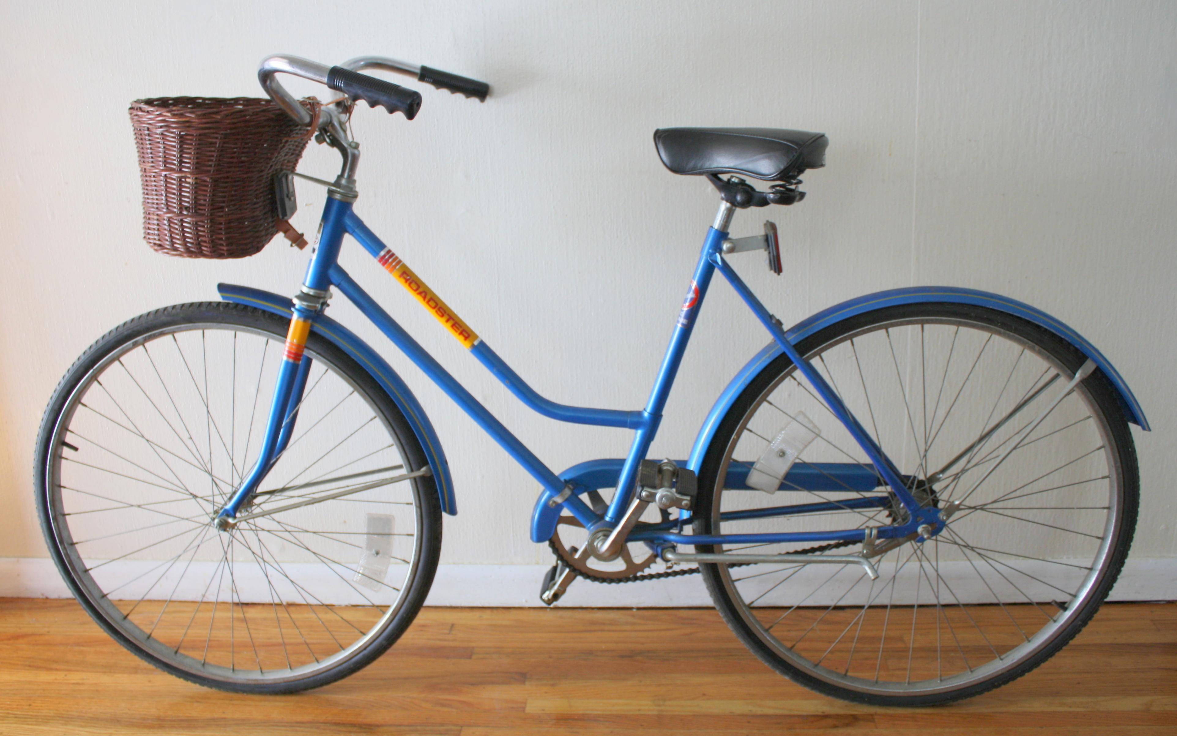 Vintage Columbia Roadster Cruiser Bicycle With Basket