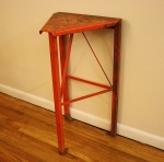 industrial steel orange tall table