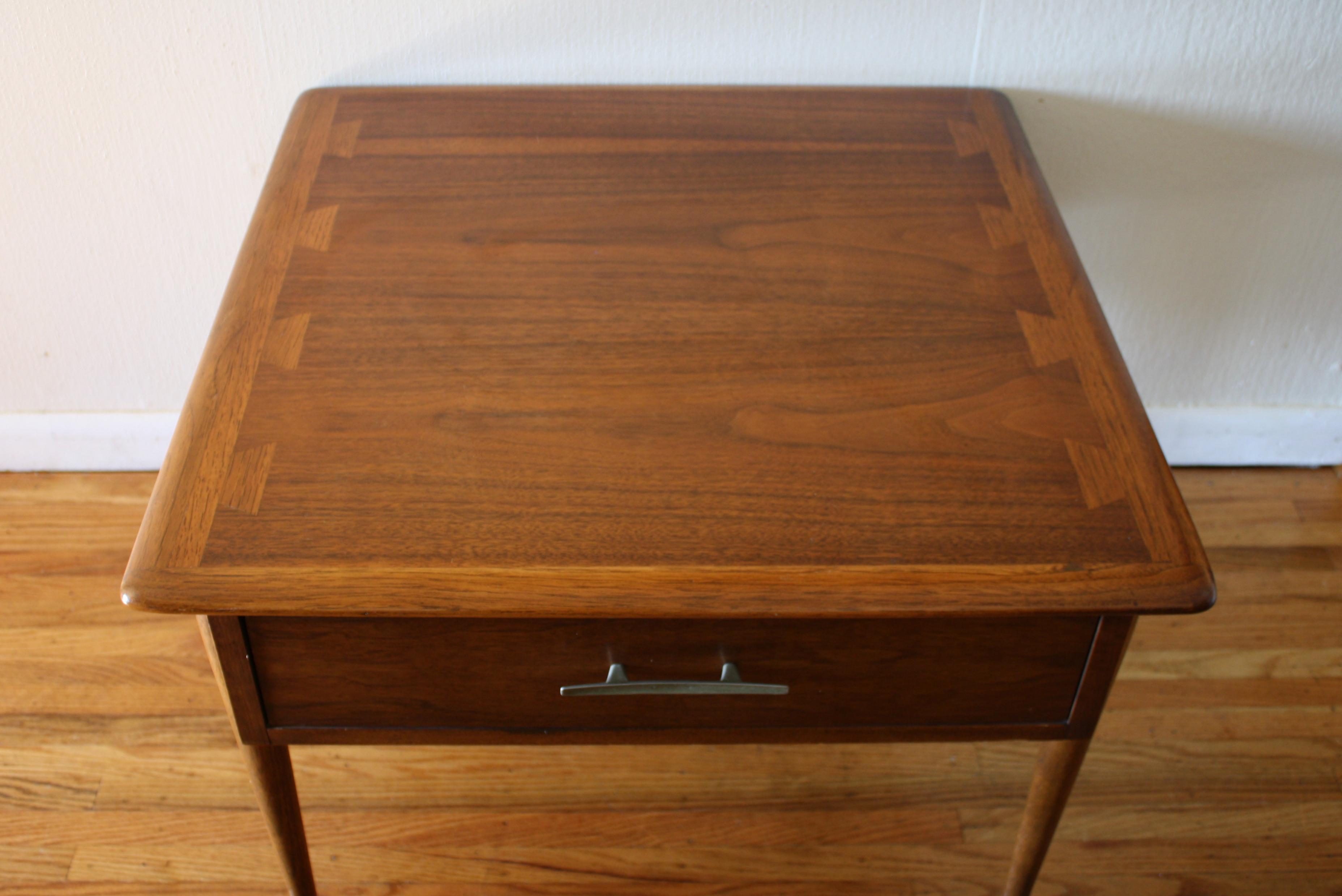 Mid Century Modern Lane Acclaim Square Table Picked Vintage
