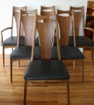 Mid century modern dining chair set of 6