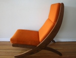 mcm orange chair with detachable writing desk 3