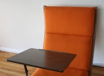 mcm orange chair with detachable writing desk 4