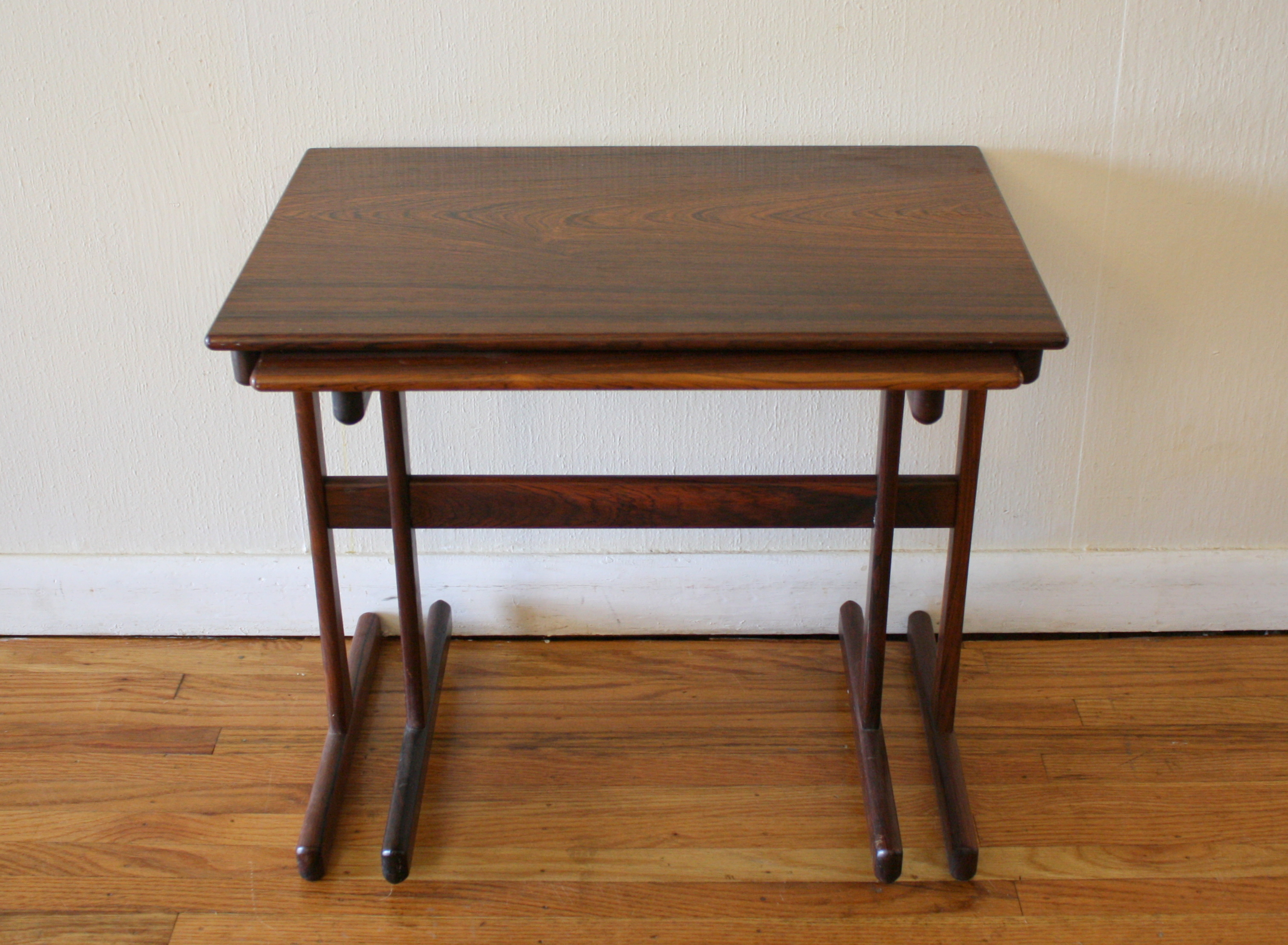 Mid Century Modern Danish Rosewood Nesting Tables Picked