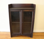Antique cabinet with glass doors and wood knob - *SOLD*