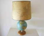 Globe lamp with map shade