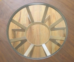 Broyhill cathedral round coffee table 2