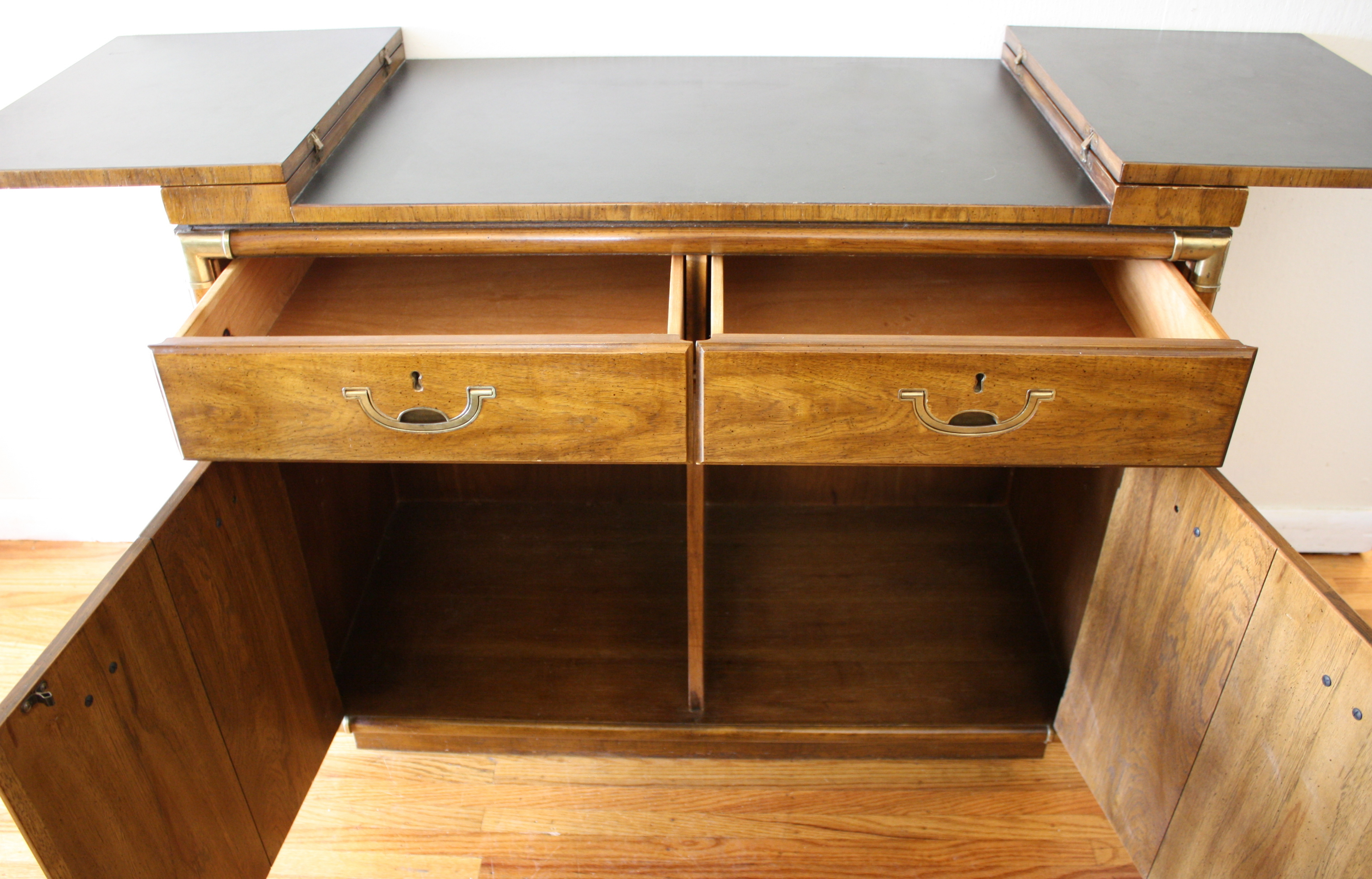 Drexel Accolade Console Bar Serving Cabinet Picked Vintage