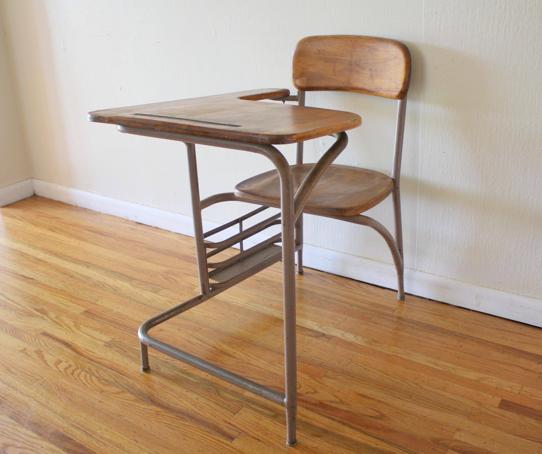 Heywood Wakefield Desk and Chair Circa 1940s