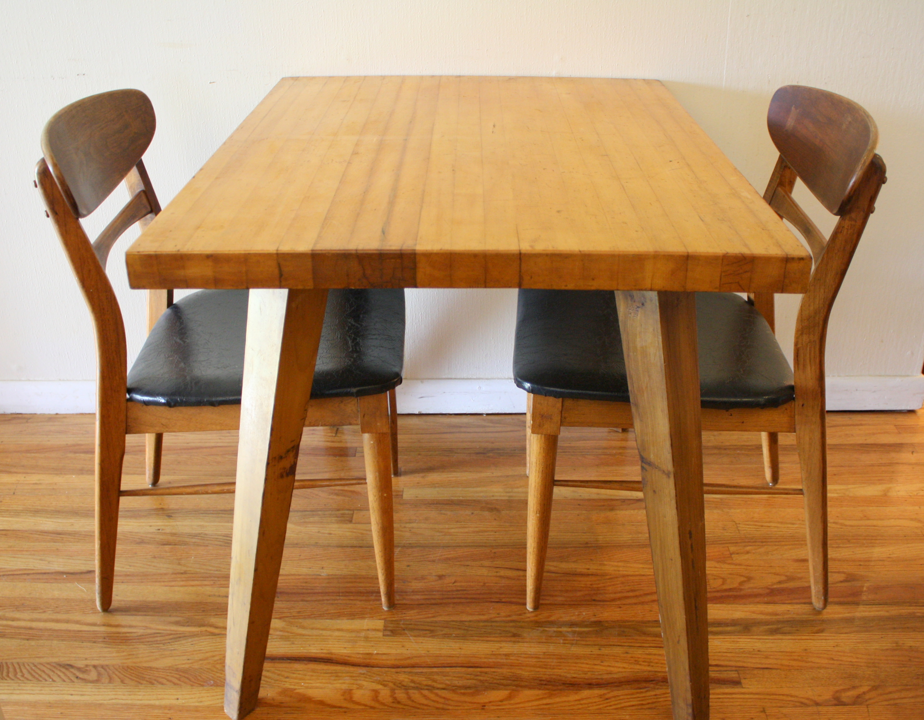 Mcm Blonde Splayed Leg Dining Table 5. Mid Century Modern ...