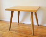 mcm blonde splayed leg dining table 6