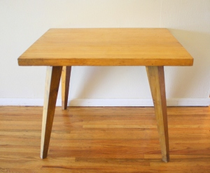 mcm blonde splayed leg dining table