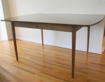 Mid century modern surfboard dining table with formica top