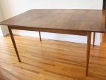 Mid century modern surfboard dining table with rosewood accents