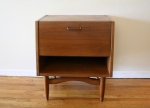 Mid century modern slanted side table by American by Martinsville: $265