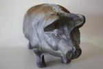 antique large cast iron pig 4