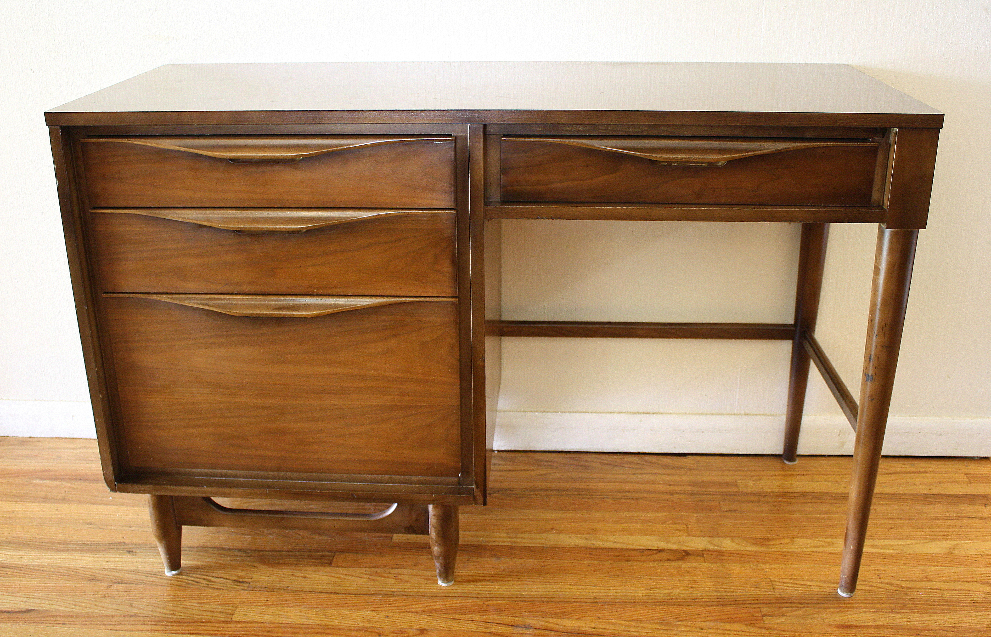 Mid Century Modern Credenza And Desk By Huntley Picked
