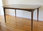 Mcm surfboard dining table with extension leaf
