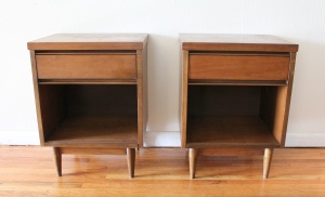 mcm side table pair with drawer 1