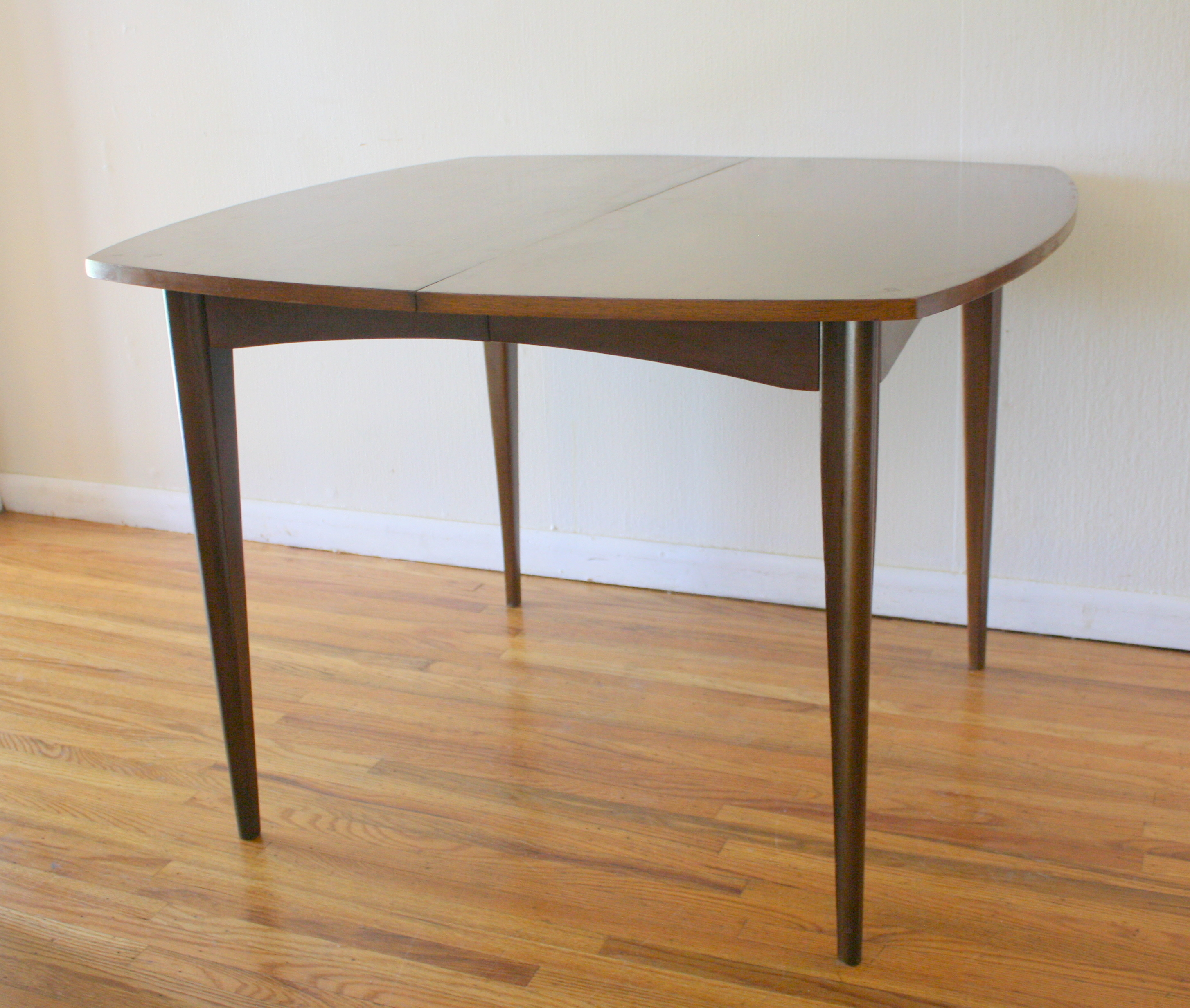 Mid Century Modern Surfboard Dining Table Picked Vintage - 48 square dining table with leaf